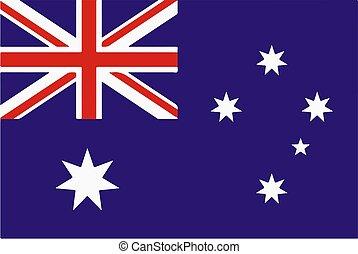 National flag of Australia Vector illustration