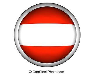 National Flag of Austria, button style