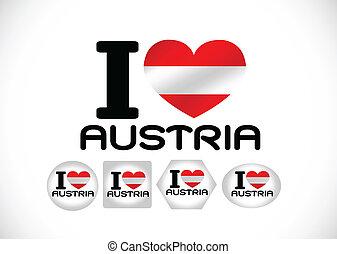 National flag of Austria themes des