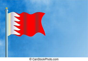 National flag of Bahrain with space for text.