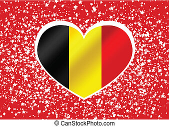 National flag of Belgium themes des