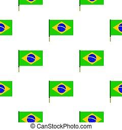 National flag of Brazil pattern seamless