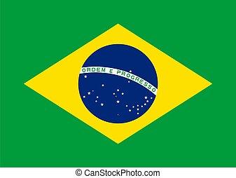 National flag of Brazil Vector illustration eps 10