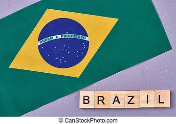 National flag of Brazil.