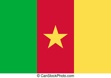 National flag of Cameroon in official colors