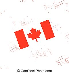 National Flag of Canada Day. Abstract dotted poster, vector illustration