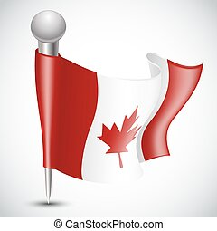 National Flag of Canada on white