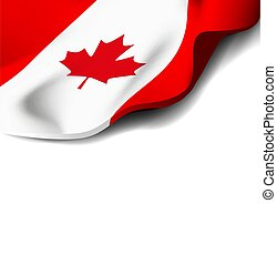 National flag of canada. Vector illustration on white