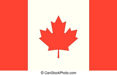National flag of Canada. Vector illustration