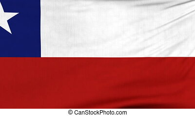 National flag of Chile flying on the wind