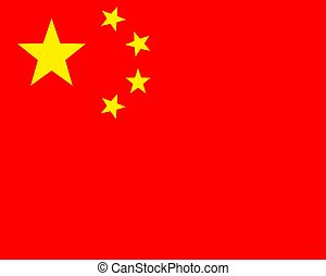 National flag of China, Political symbol color