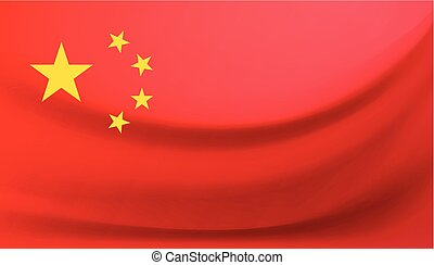 National flag of China. Vector illustration