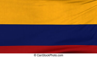 National flag of Colombia flying on the wind