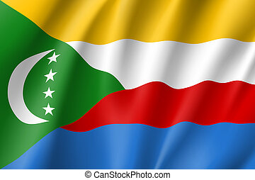 national flag of Comoros.