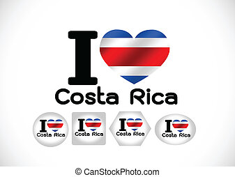 National flag of Costa Rica themes idea design
