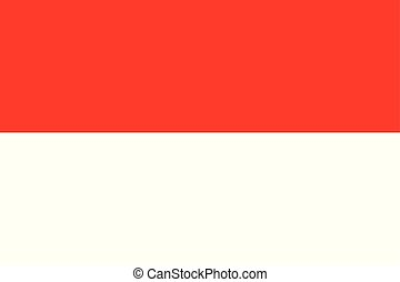 National flag of country Indonesia (red, white color)