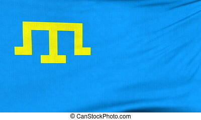 National flag of Crimean Tatar flying on the wind - National...