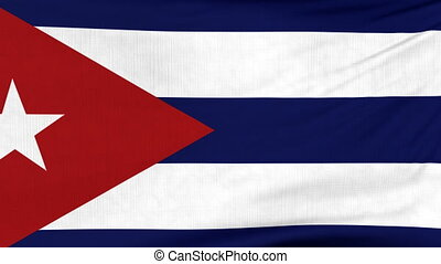 National flag of Cuba flying on the wind