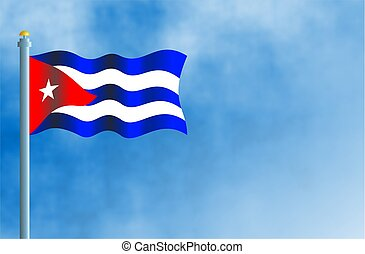 National flag of Cuba.