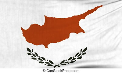 National flag of Cyprus flying on the wind