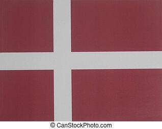 National flag of Denmark.