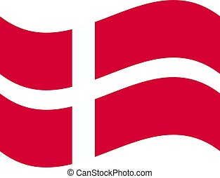 National flag of Denmark with correct proportions and color scheme