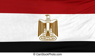National flag of Egypt flying on the wind