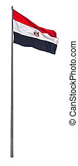 National flag of Egypt isolated