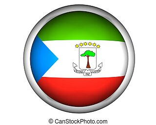 National Flag of Equatorial Guinea, button style