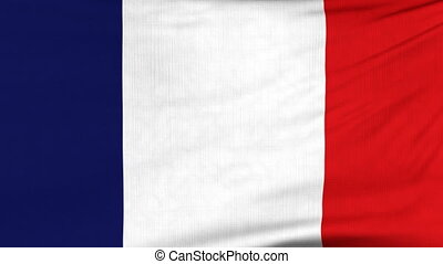 National flag of France flying on the wind