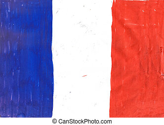 National flag of France pencil draw
