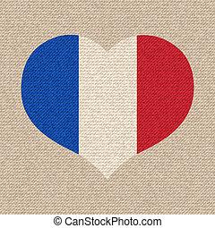 National flag of France.