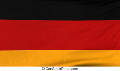 National flag of Germany flying on the wind