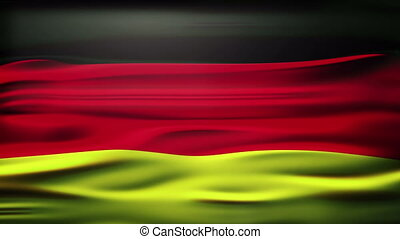 national flag of Germany named 'Bundesflagge und Handelsflagge', waving and blowing in the breeze with room for text, logos, graphics and titles.