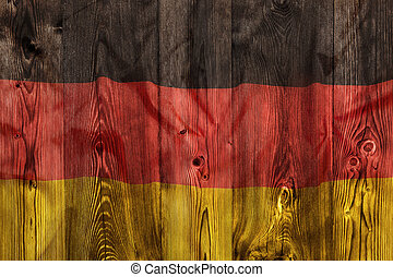 National flag of Germany, wooden background