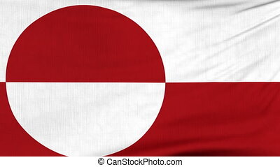 National flag of Greenland flying on the wind - National...