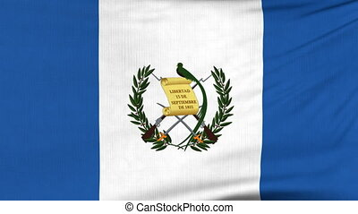 National flag of Guatemala flying on the wind