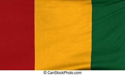 National flag of Guinea flying on the wind