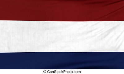 National flag of Holland flying on the wind