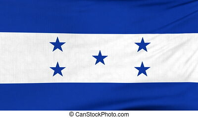 National flag of Honduras flying on the wind