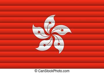 National Flag of Hong Kong. Vector Illustration.