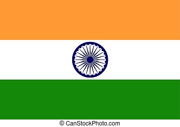 National Flag of India Vector illustration