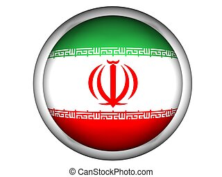 National Flag of Iran, button style