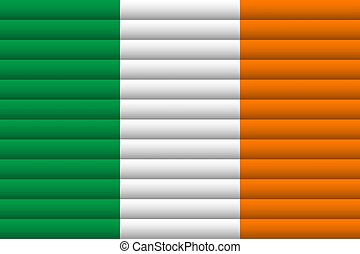 National Flag of Ireland. For Independence Day.