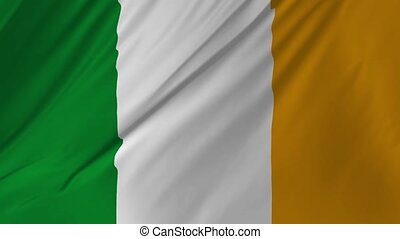 National flag of Ireland seamless looping full 2 in 1 -...