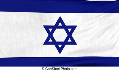 National flag of Israel flying on the wind