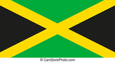 National flag of Jamaica in official colors