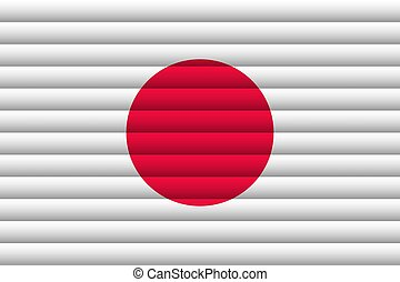 National Flag of Japan. For Independence Day