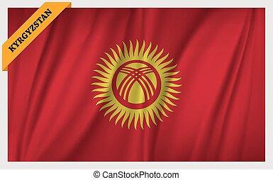 National flag of Kyrgyzstan