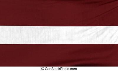 National flag of Latvia flying on the wind - National flag...